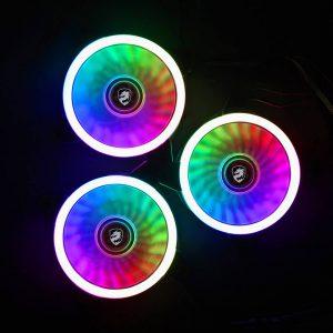 COMBO 3* FAN VITRA DUAL RING RGB (Kèm điều khiển)