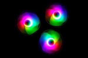 COMBO 3* FAN VITRA RAINBOW RGB  LED 12CM (kèm điều khiển)