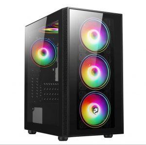 Vỏ máy tính VITRA THEMIS N1 GLASS KÈM 3FAN RGB