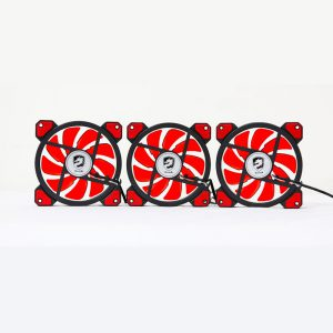 COMBO 3* FAN VITRA RING RED LED 12CM