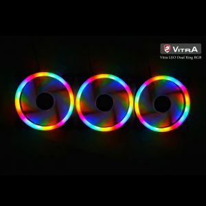 COMBO 3* FAN VITRA LEO DUAL RING RGB (4 pins)