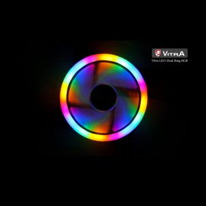 FAN VITRA LEO DUAL RING RGB (4 pins)