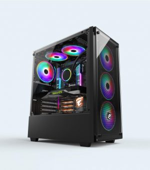 Vỏ máy tính Vitra Quinn W550 Black E-ATX Temper Glass