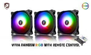 COMBO 3* FAN VITRA RAINBOW RGB (Kèm điều khiển)